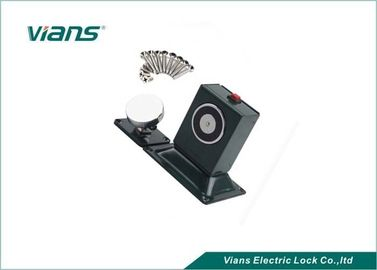 ประเทศจีน 110Lbs Power Off To Open Manual Door Release Button , Floor Wall 24v Magnetic Door Holder โรงงาน